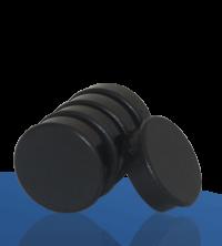 5 Magnete, schwarz, 38mm