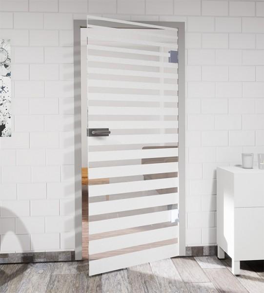 Glasdekor für Türen, Streifenverlauf