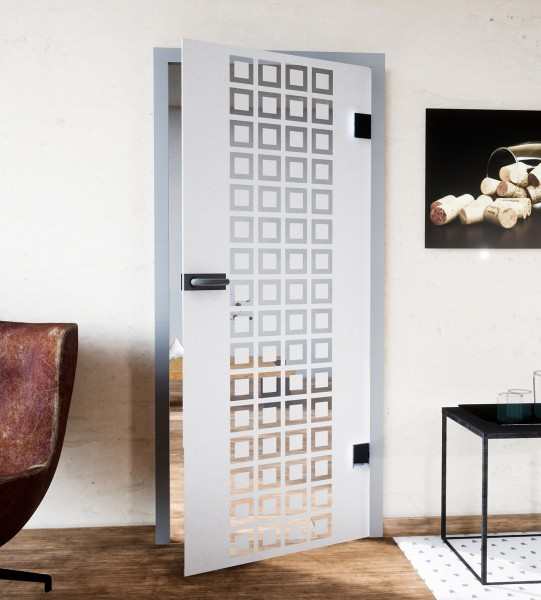 Glasdekor für Türen, kleine Quadrate