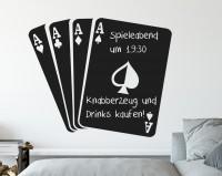 Tafelfolie, Spielkarten