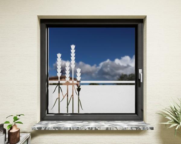 Glasdekor für Fenster, Weizen