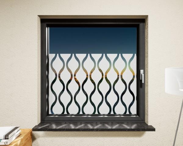 Glasdekor für Fenster, Perlenkette