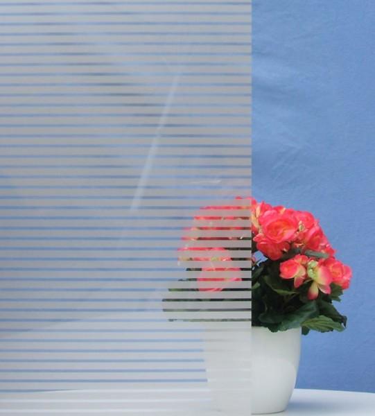 Dekorfolie, horizontale silber-graue Streifen, Breite 10 mm