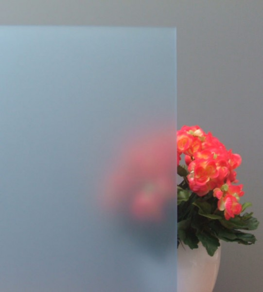 Sichtschutzfolie, Sandstrahldesign bleu matt