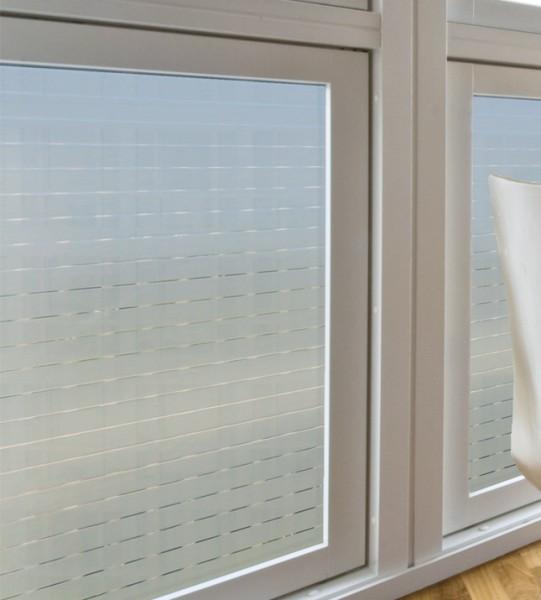 Adhäsionsfolie, horizontal transparent weiße Streifen 17 mm
