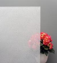 Sichtschutzfolie, Wassertropfen auf weißem Grund