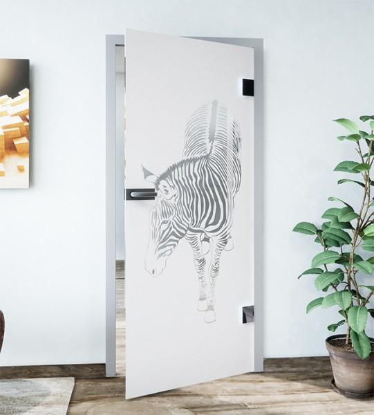 Glasdekor für Türen, Zebra