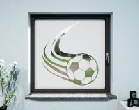 Glasdekor für Fenster, Fußball