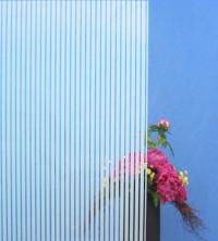 Dekorfolie, vertikale weiße Streifen, Breite 10 mm