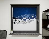 Glasdekor für Fenster, Sonnensystem