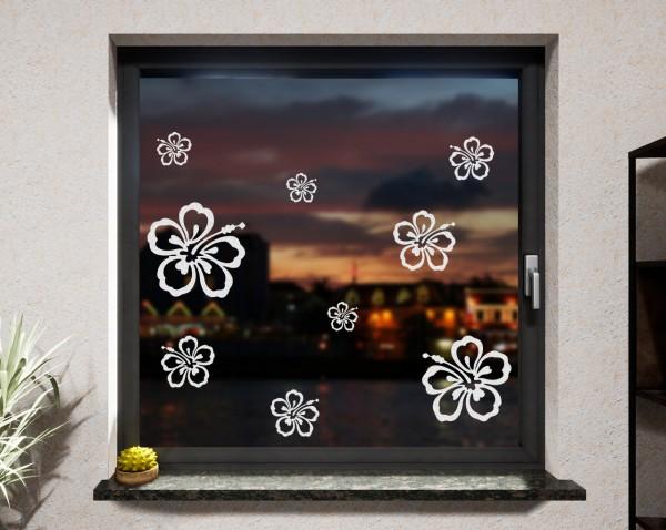 Fenstertattoo, Blumen
