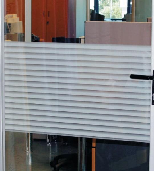 Adhäsionsfolie, horiz. transparent-weiß schattierte Streifen
