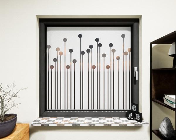 Glasdekor für Fenster, Stalagmiten