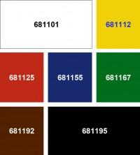 Undurchsichtige Farbfolie (selbsthaftend)