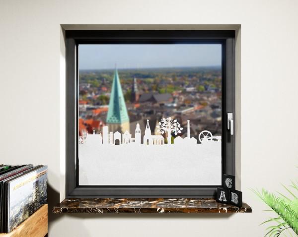 Glasdekor für Fenster, Skyline Bocholt