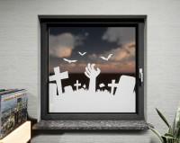 Glasdekor für Fenster, Grabstein
