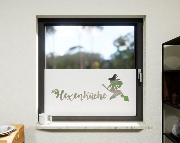 Glasdekor für Fenster, Hexenküche