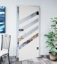 Glasdekor für Türen, schräge Streifen