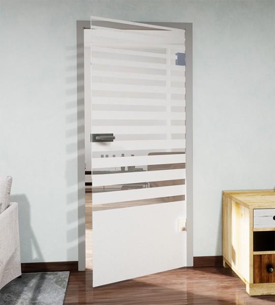 Glasdekor für Türen, vollflächig mit auslaufenden Streifen