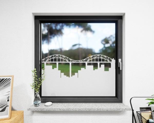 Glasdekor für Fenster, Brücke