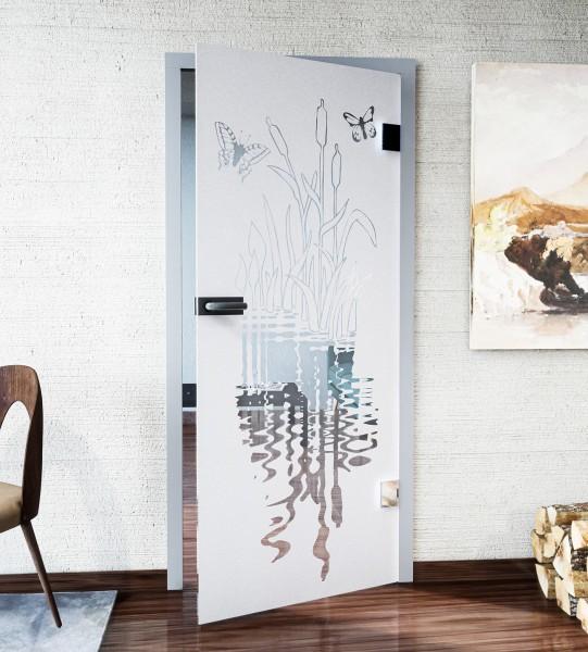 Glasdekor für Türen, Schilfufer