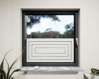 Glasdekor für Fenster, Quadrate ineinander