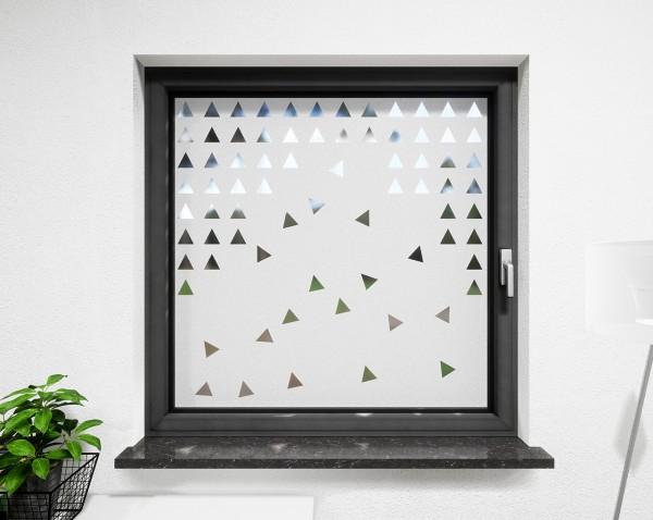 Glasdekor für Fenster, herabfallende Dreiecke