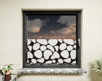 Glasdekor für Fenster, Kieselsteine