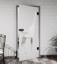 Glasdekor für Türen, Giraffe