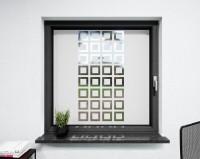 Glasdekor für Fenster, Quadrate