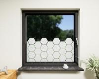 Glasdekor für Fenster, Waben