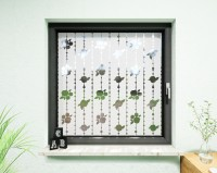 Glasdekor für Fenster, Rosenkugeln