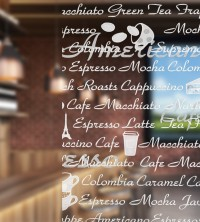 Dekorationsfolie, Kaffee