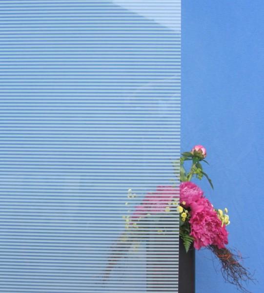 Dekorfolie, horizontale weiße Streifen, Breite 4 mm