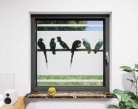 Glasdekor für Fenster, Vögel