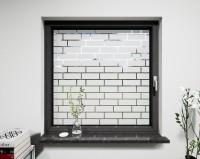 Glasdekor für Fenster, Ziegelsteinmauer