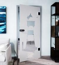 Glasdekor für Türen, Nordseeleuchtturm