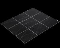 Fliesenfolie, schwarzer Marmor, Nero Marquina