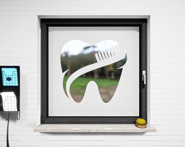 Glasdekor für Fenster, Zahnarzt