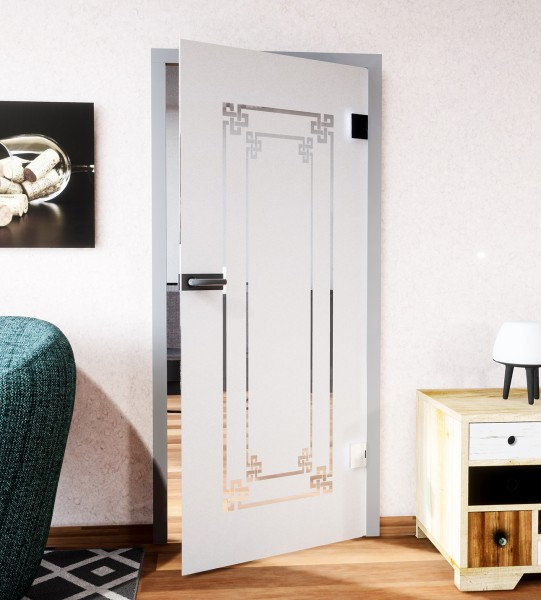 Glasdekor für Türen, Ornamentrahmen