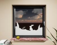 Glasdekor für Fenster, Hase