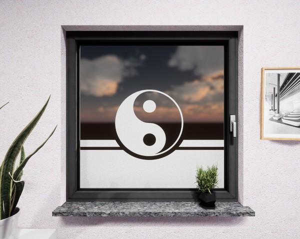 Glasdekor für Fenster, YinYang