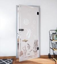 Glasdekor für Türen, Wasserwelt der Fische
