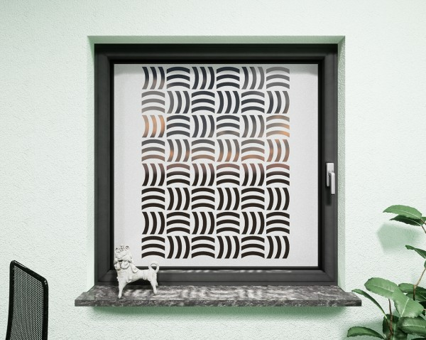 Glasdekor für Fenster, gekreuzte Wellen