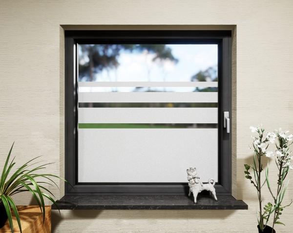 Glasdekor für Fenster, Streifen