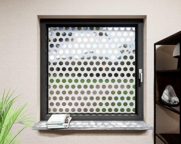 Glasdekor für Fenster, Punkte