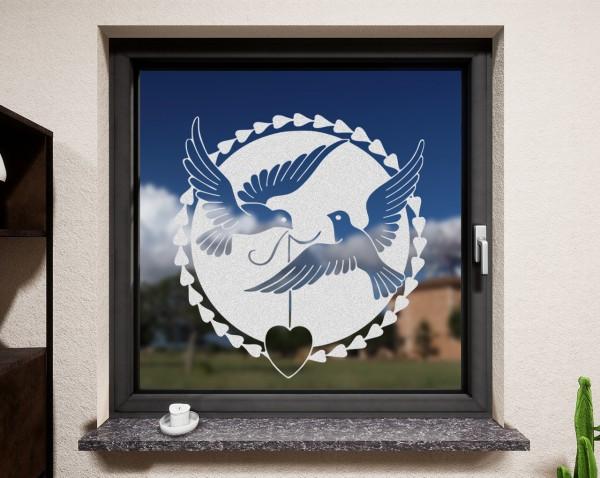 Fenstertattoo, Tauben