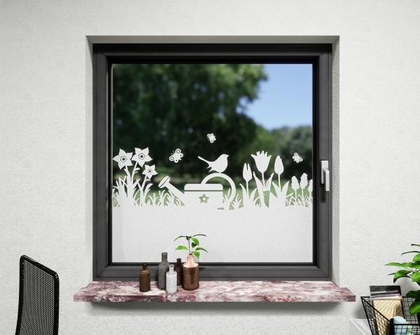 Glasdekor für Fenster, Garten
