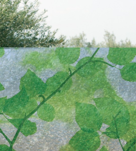 Adhäsionsfolie, grüne Blätter (geprägt)