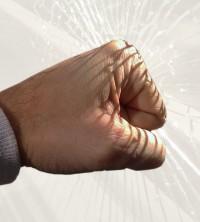 Splitter- und Sichtschutzfolie, 150 µm, weiß matt